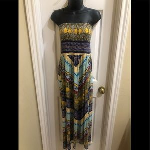 ❤️AWESOME BOHO CHIC Strapless Maxi Dress